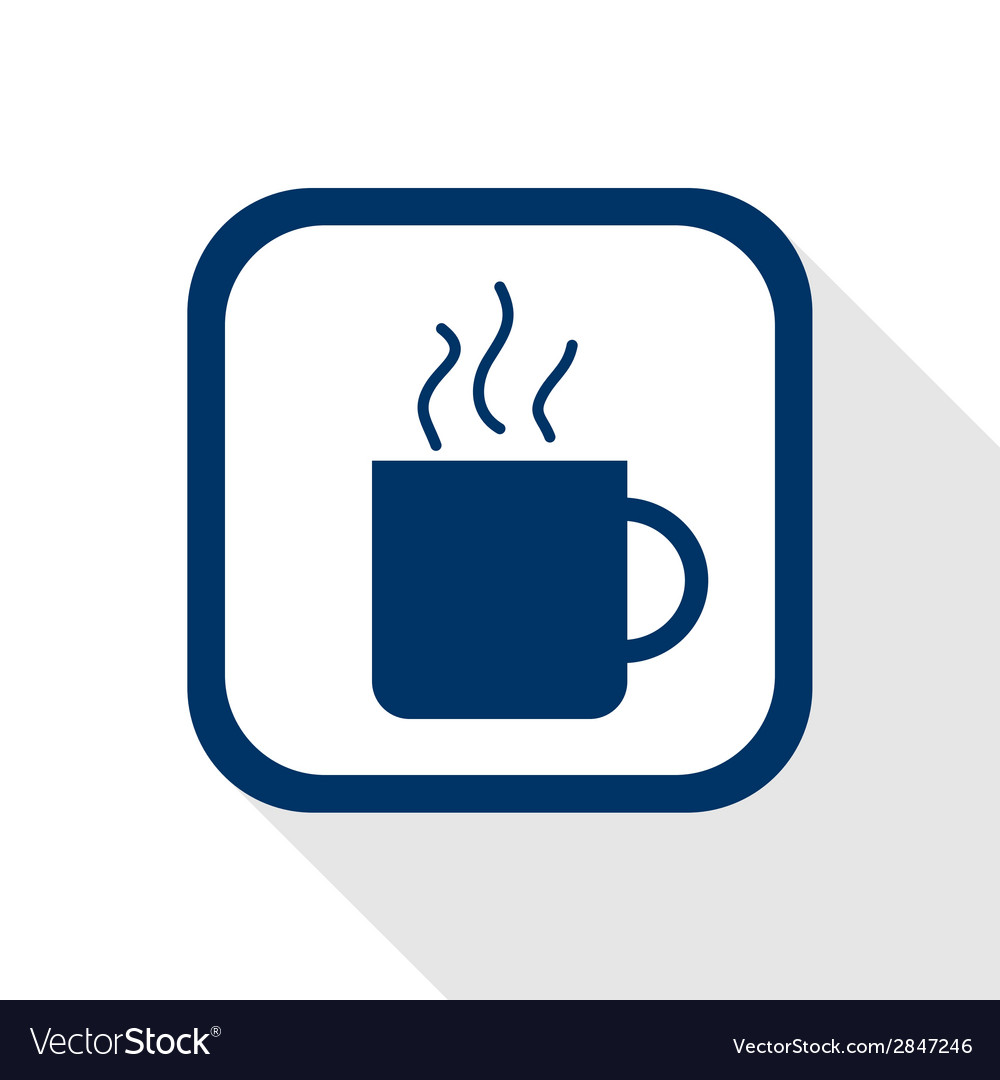 Cup coffee flat icon vector | Price: 1 Credit (USD $1)
