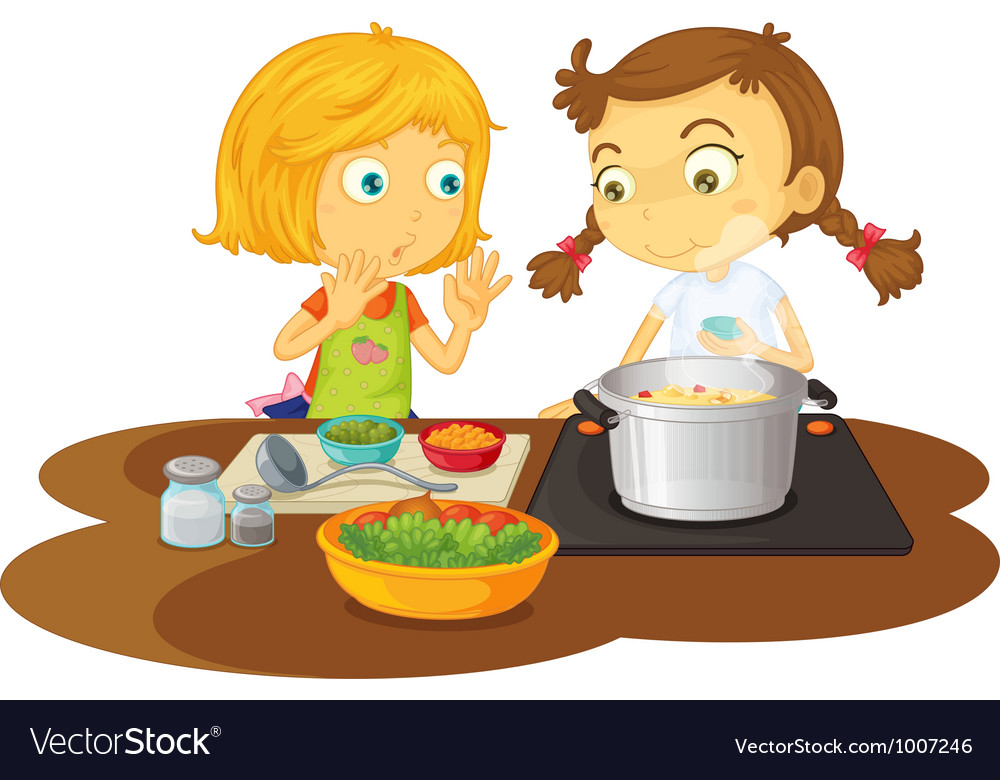 Girls cooking vector | Price: 3 Credit (USD $3)