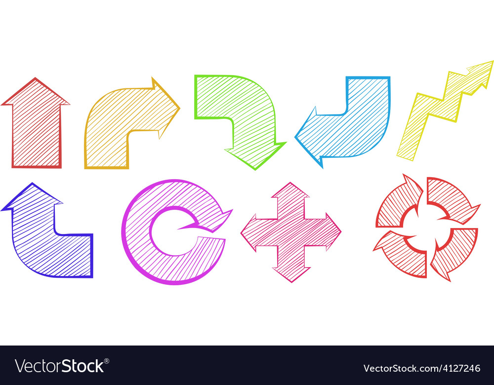 Group of colourful arrows vector | Price: 1 Credit (USD $1)