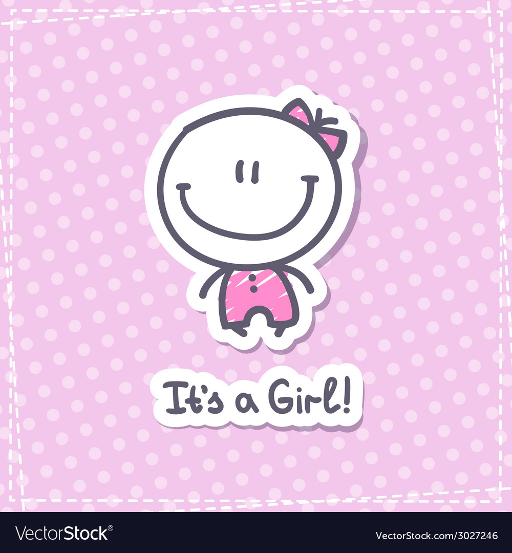 Its a girl vector | Price: 1 Credit (USD $1)