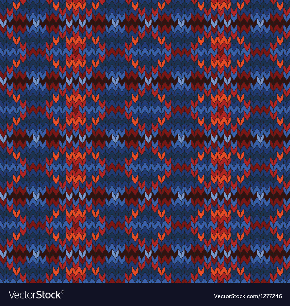 Knitted seamless background in fair isle style vector | Price: 1 Credit (USD $1)