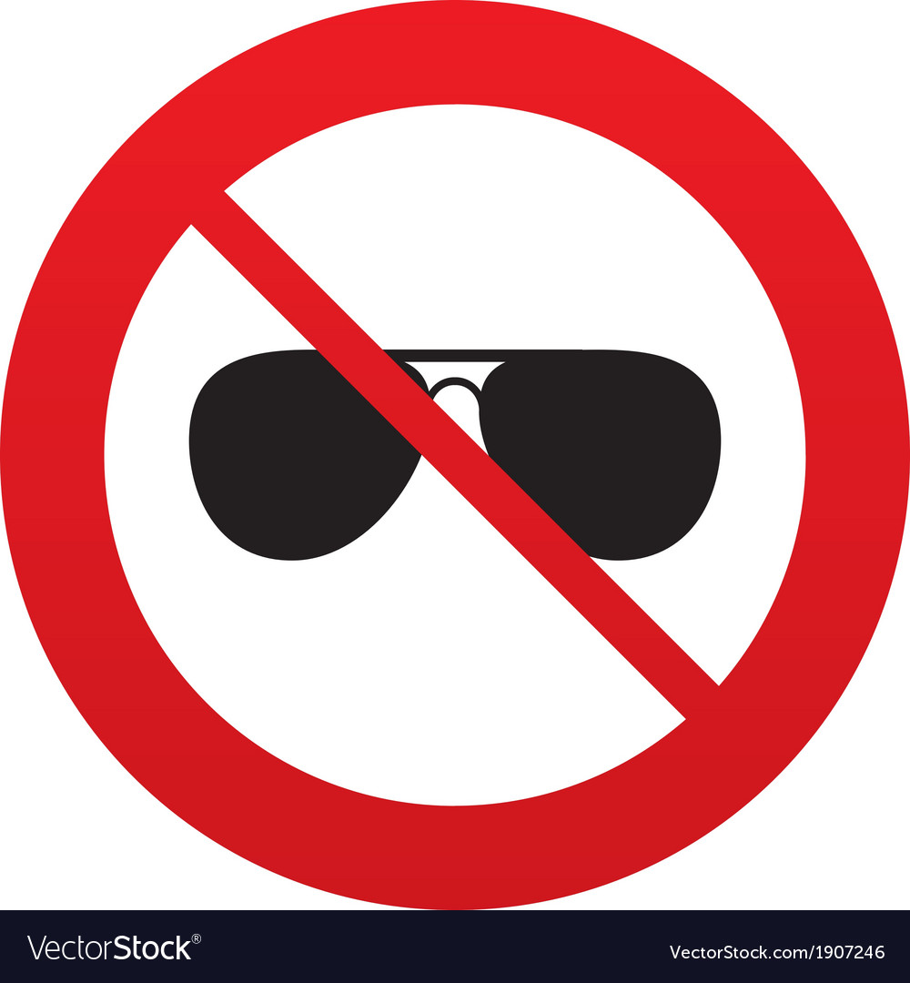 No aviator sunglasses sign icon pilot glasses vector | Price: 1 Credit (USD $1)