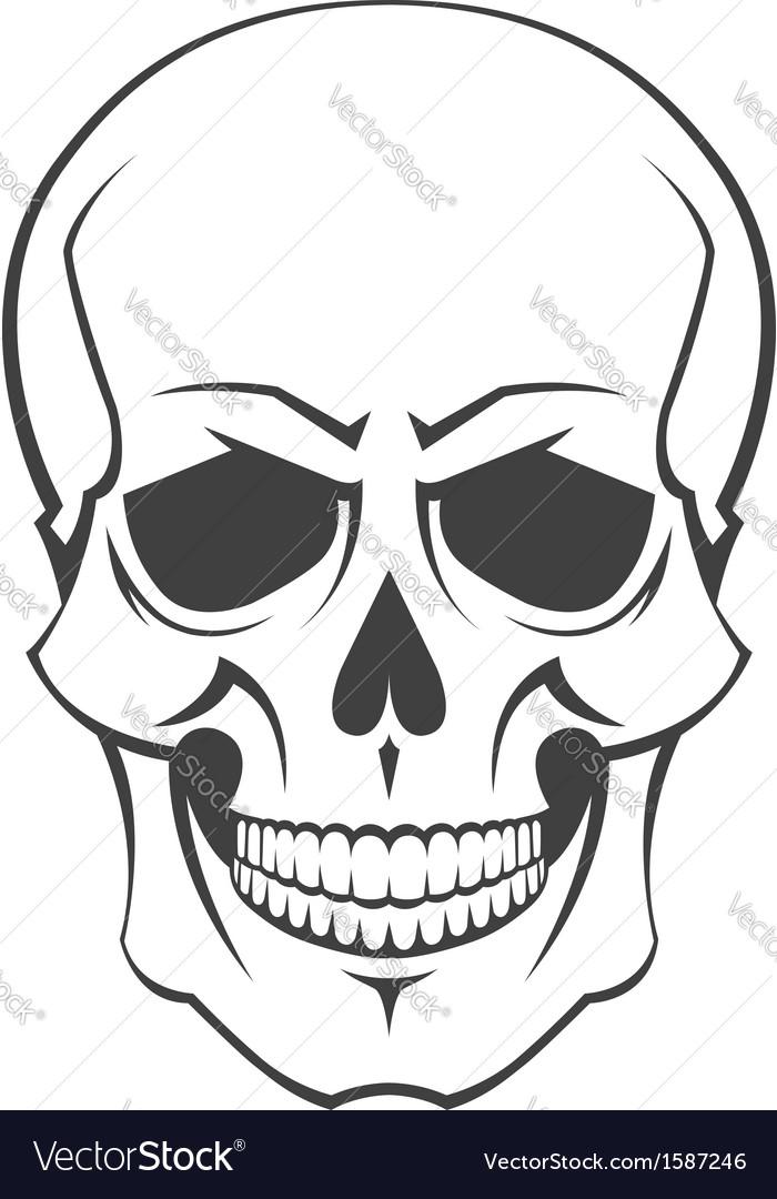 Skull symbol vector   Price: 1 Credit (USD $1)