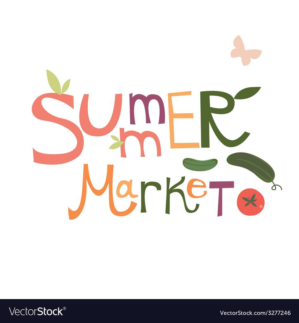 Summer market design vector | Price: 1 Credit (USD $1)