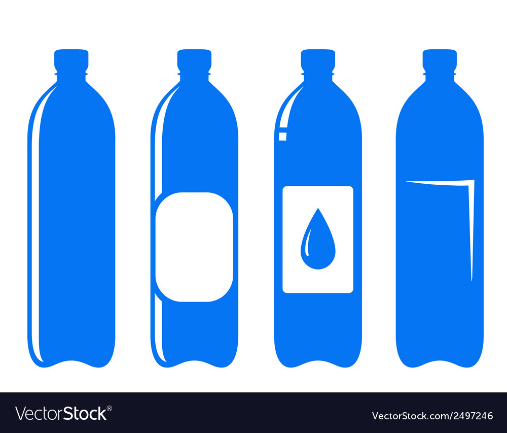 Water bottle set vector | Price: 1 Credit (USD $1)