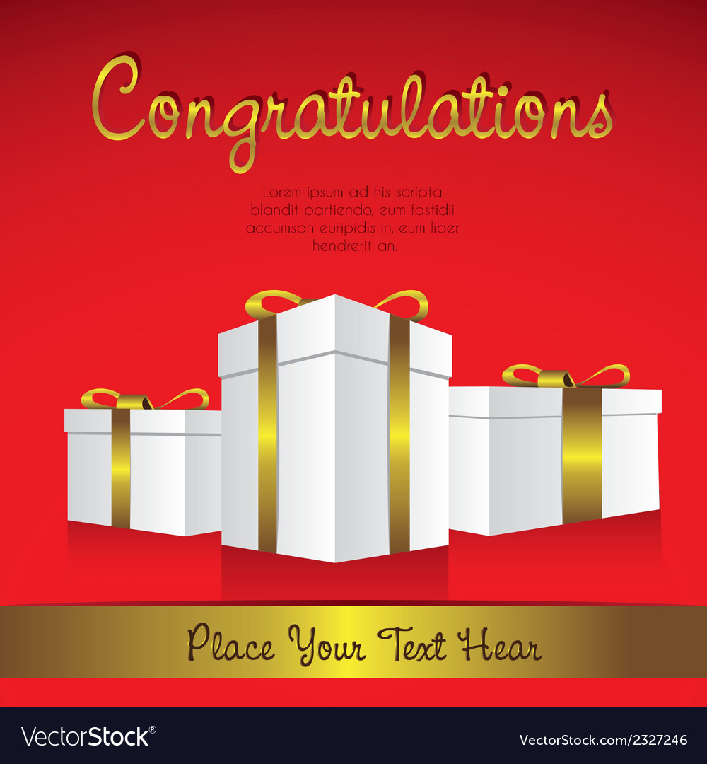 White gift boxes with golden ribbons in perspectiv vector | Price: 1 Credit (USD $1)