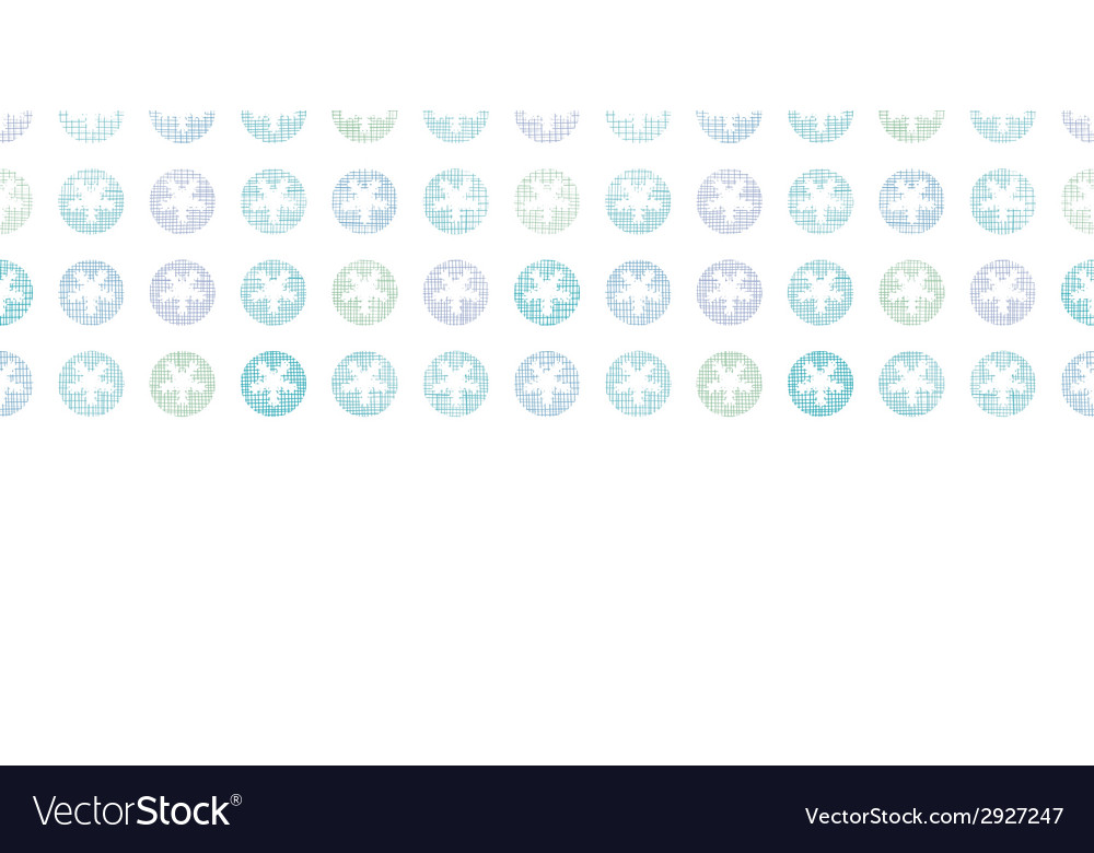 Abstract textile snowflakes dots horizontal vector | Price: 1 Credit (USD $1)