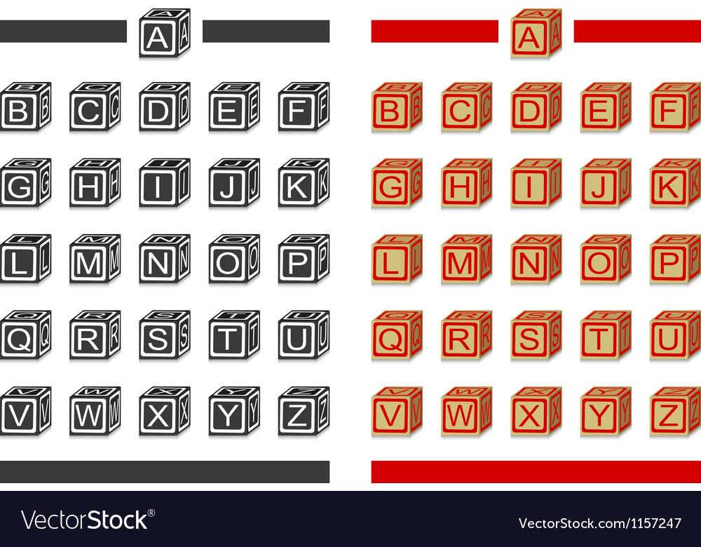 Alphabet blocks vector | Price: 1 Credit (USD $1)