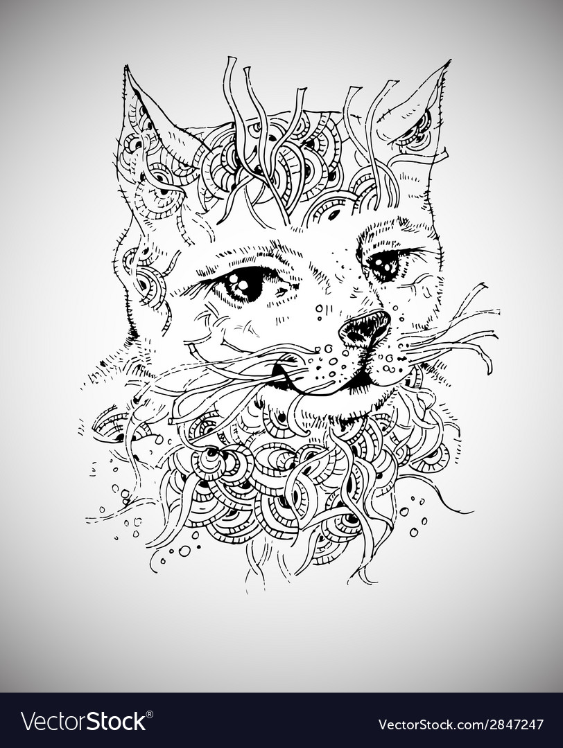 Doodle cat vector | Price: 1 Credit (USD $1)