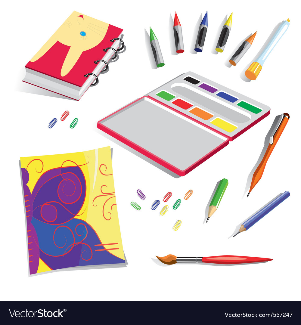 School exercise book colours vector | Price: 1 Credit (USD $1)