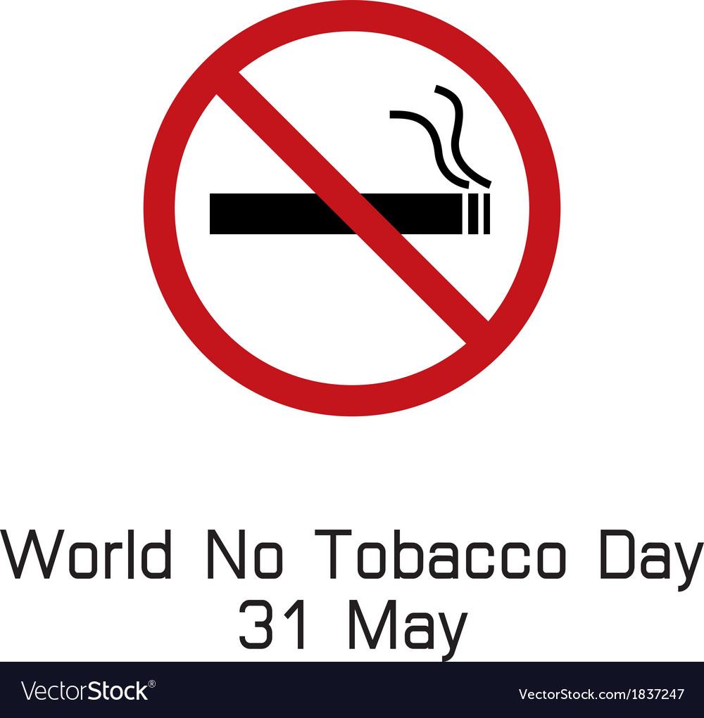 World no tobacco day smoking logo vector | Price: 1 Credit (USD $1)