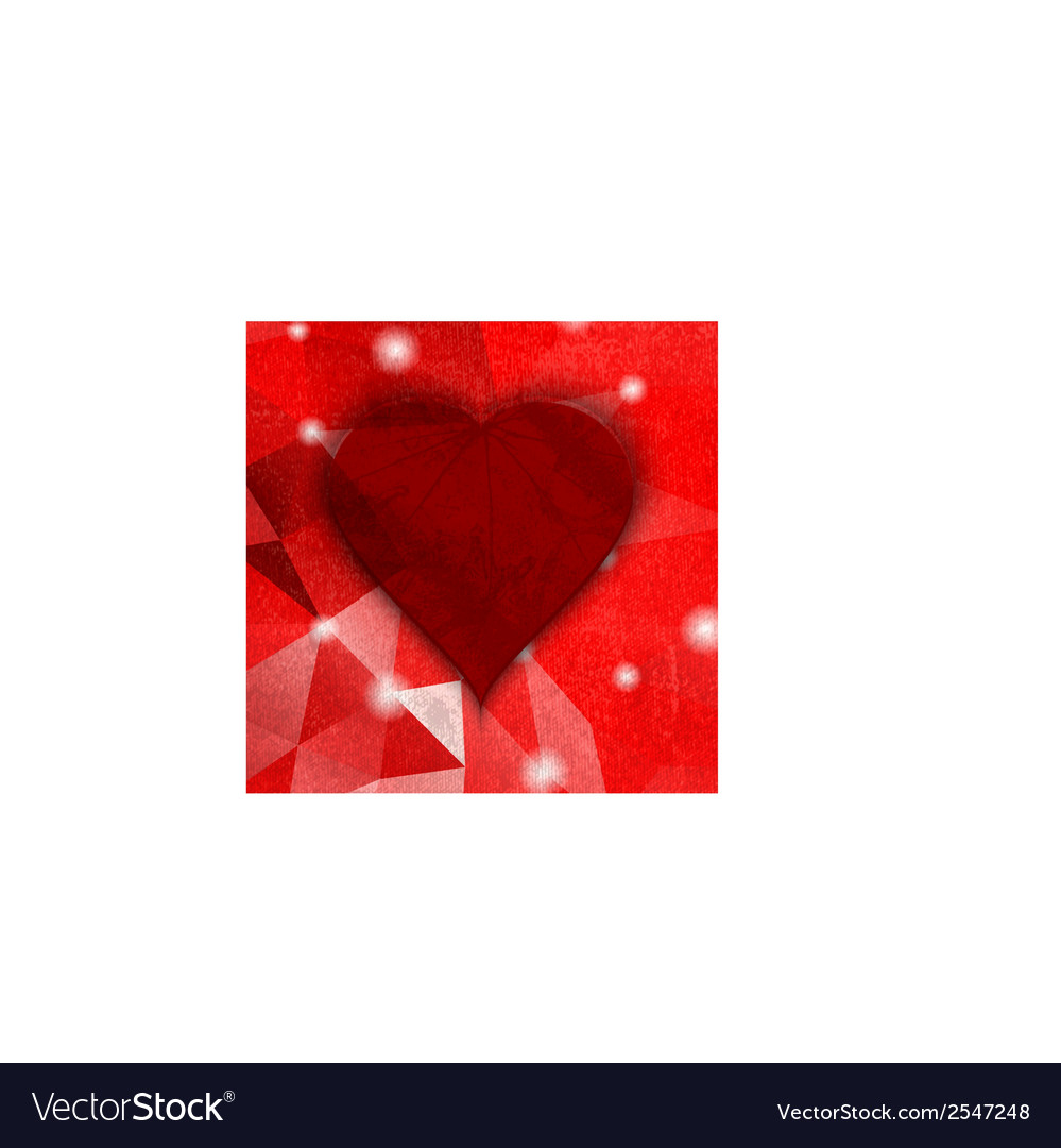 Abstract dark grunge heart vintage background vector | Price: 1 Credit (USD $1)