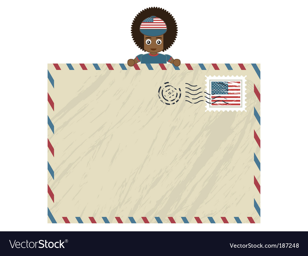 American airmail vector | Price: 1 Credit (USD $1)