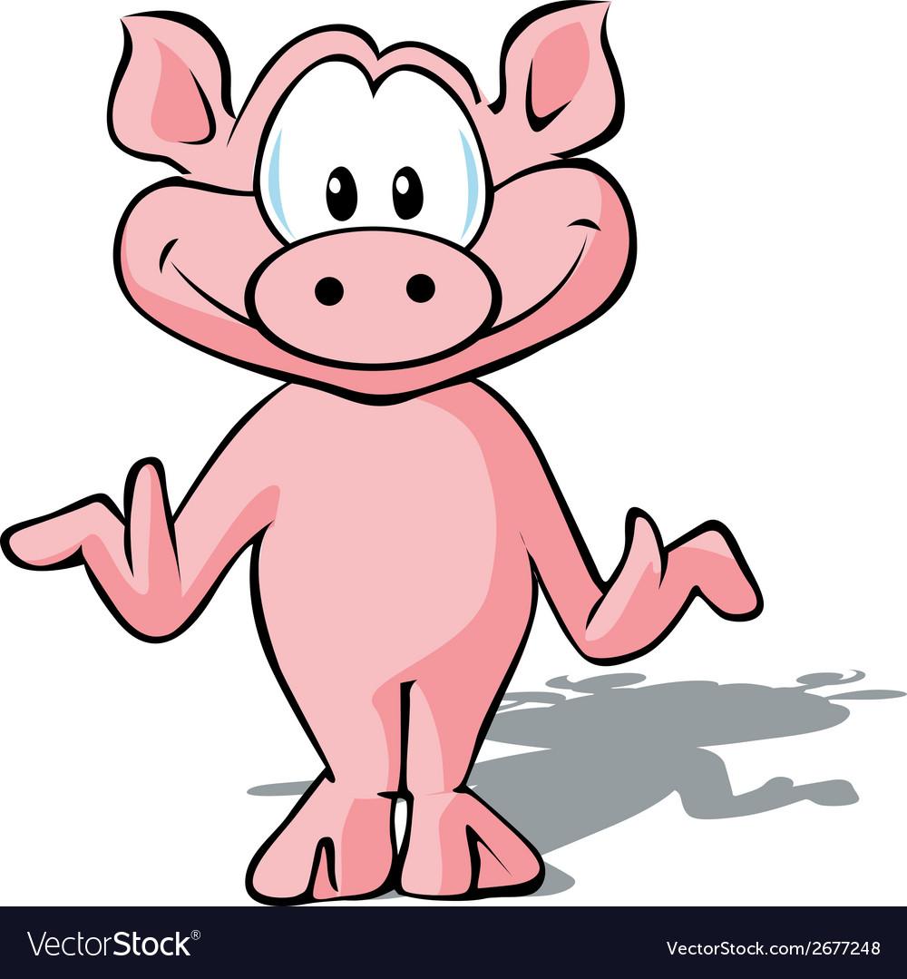Cute pig vector   Price: 1 Credit (USD $1)