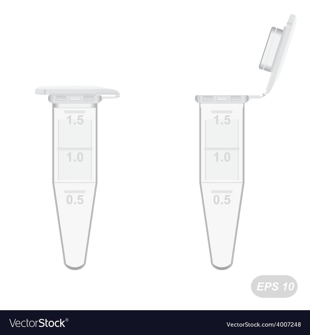 Empty plastic 18 ml eppendorf tubes vector | Price: 1 Credit (USD $1)
