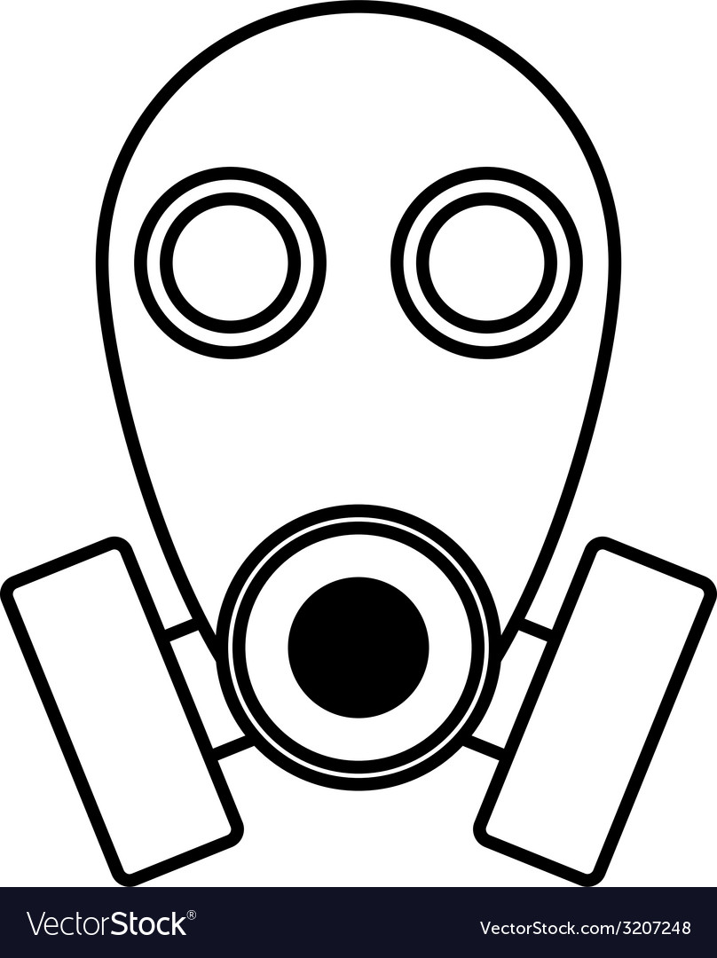 Gas mask sign vector | Price: 1 Credit (USD $1)