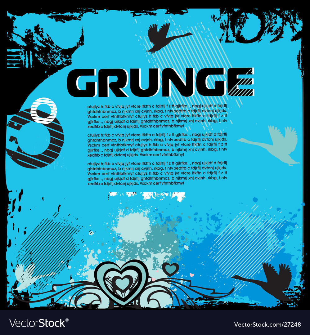 Grunge background with birds vector | Price: 1 Credit (USD $1)