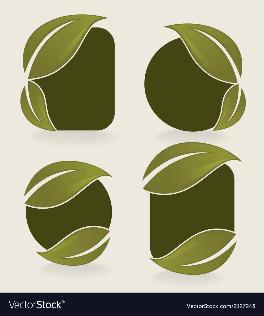 Leaves stickers vector | Price: 1 Credit (USD $1)