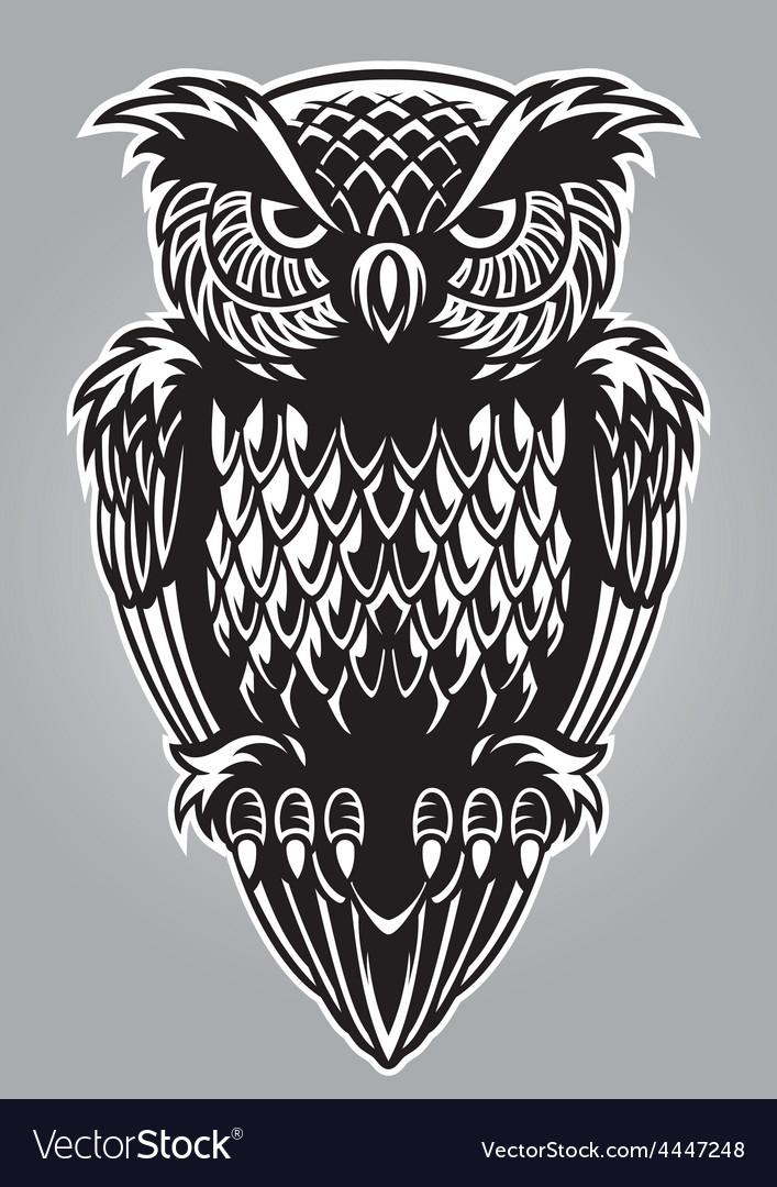 Owl bird vector | Price: 3 Credit (USD $3)