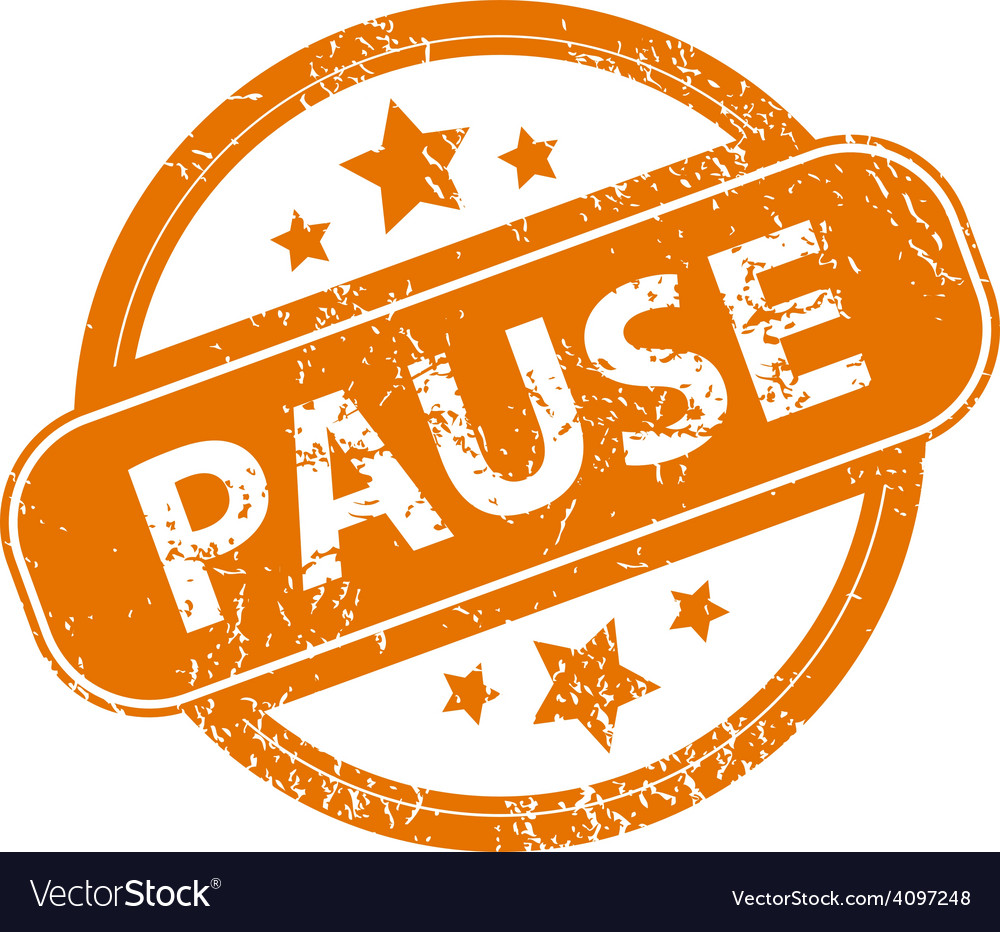Pause grunge icon vector | Price: 1 Credit (USD $1)
