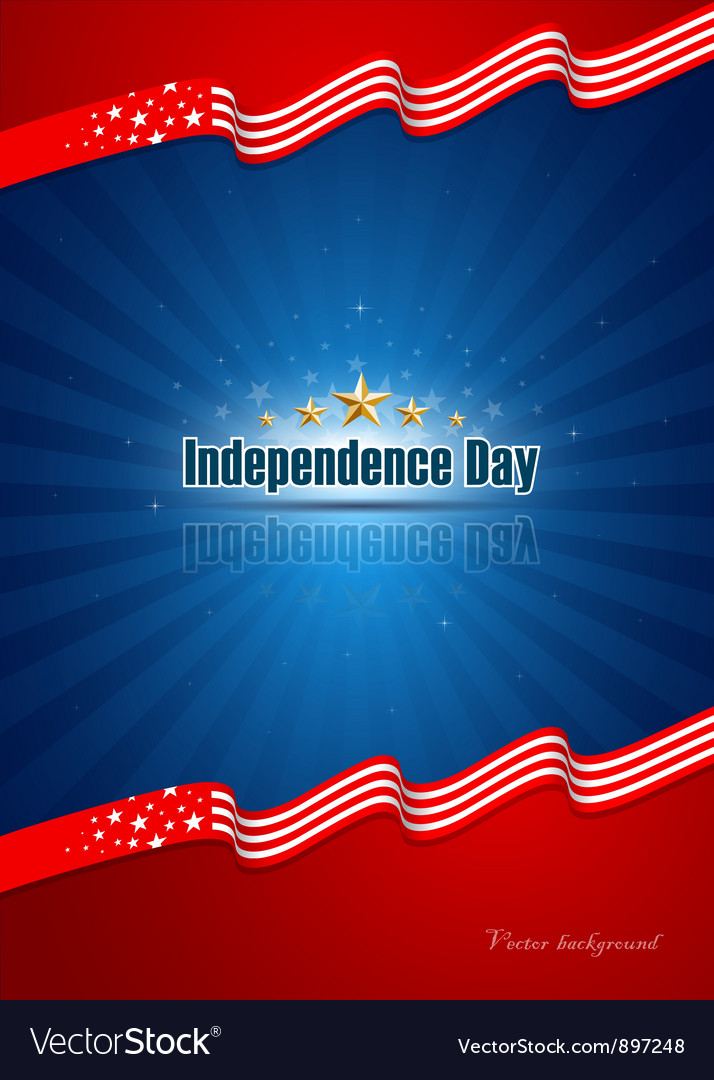Poster independence day design background vector | Price: 1 Credit (USD $1)