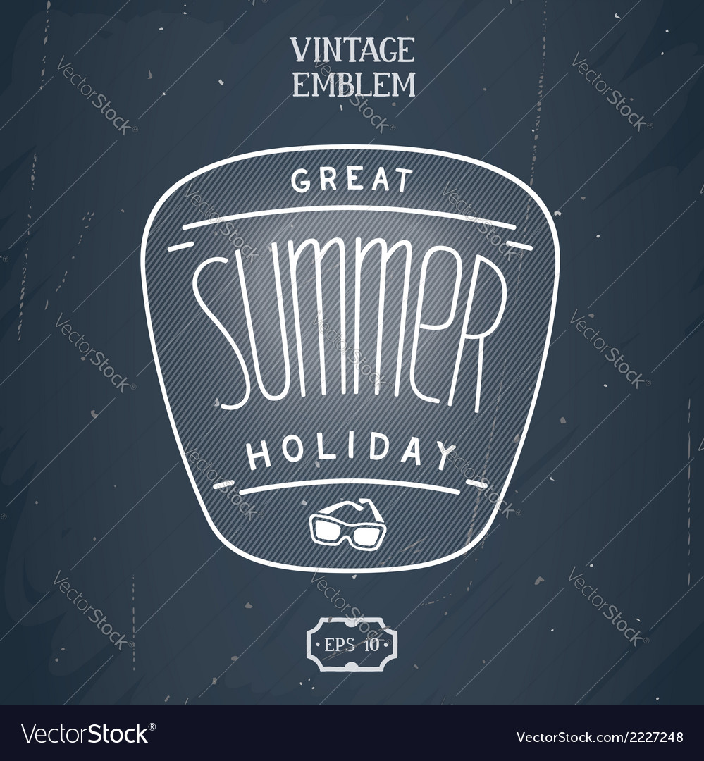 Retro handmade summer emblem vector | Price: 1 Credit (USD $1)