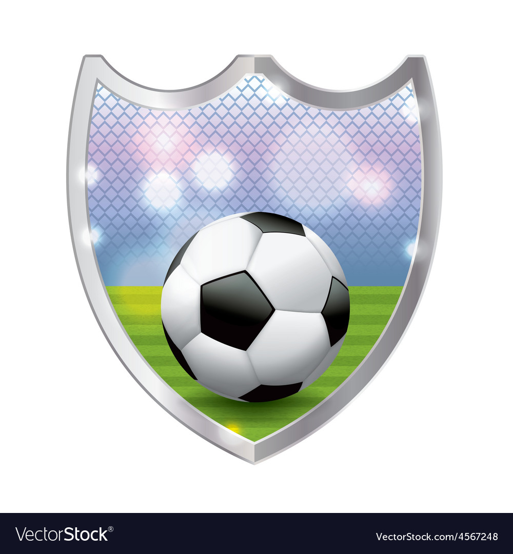 Soccer football badge emblem vector | Price: 1 Credit (USD $1)