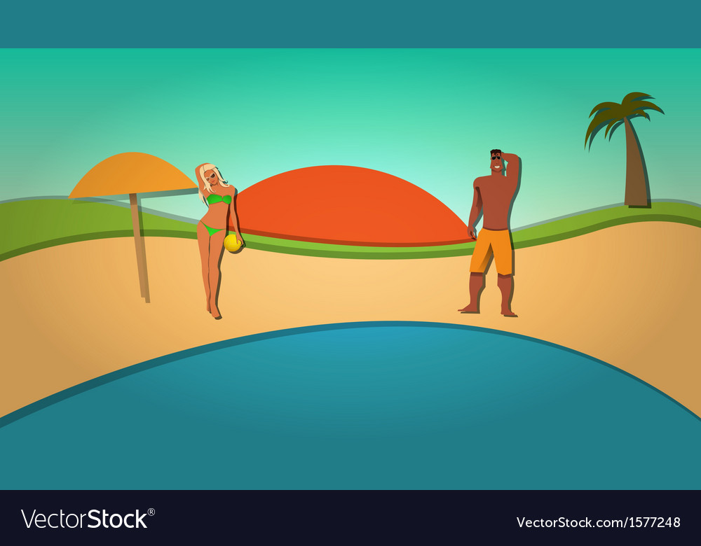 Summer and beach vector | Price: 1 Credit (USD $1)