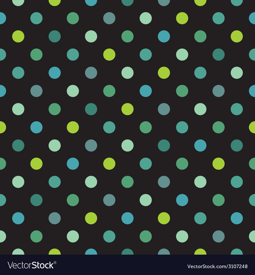 Tile polka dots dark pattern vector | Price: 1 Credit (USD $1)