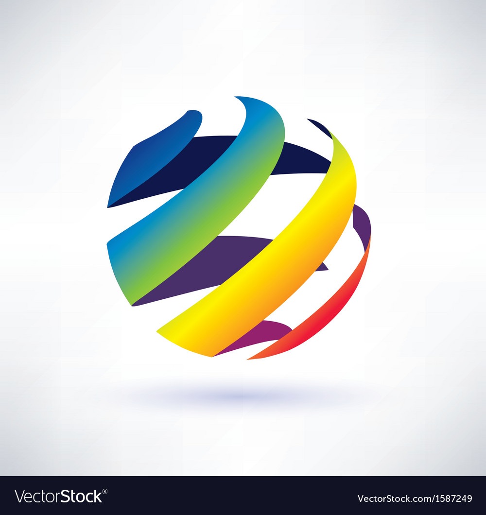 Abstract rainbow globe icon vector | Price: 1 Credit (USD $1)