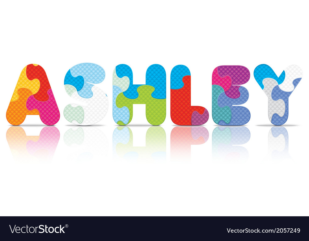 Ashley written with alphabet puzzle vector | Price: 1 Credit (USD $1)