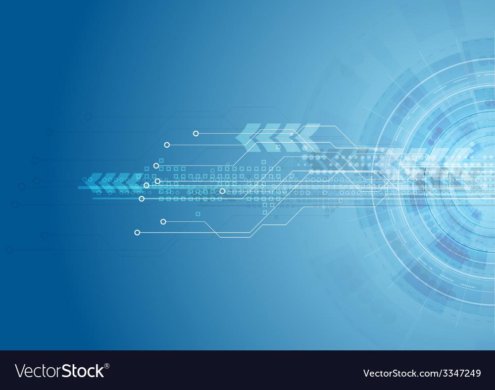 Blue bright hi-tech circuit board background vector   Price: 1 Credit (USD $1)