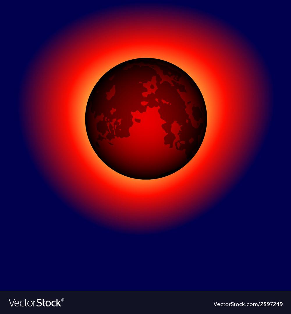 Dark moon vector | Price: 1 Credit (USD $1)
