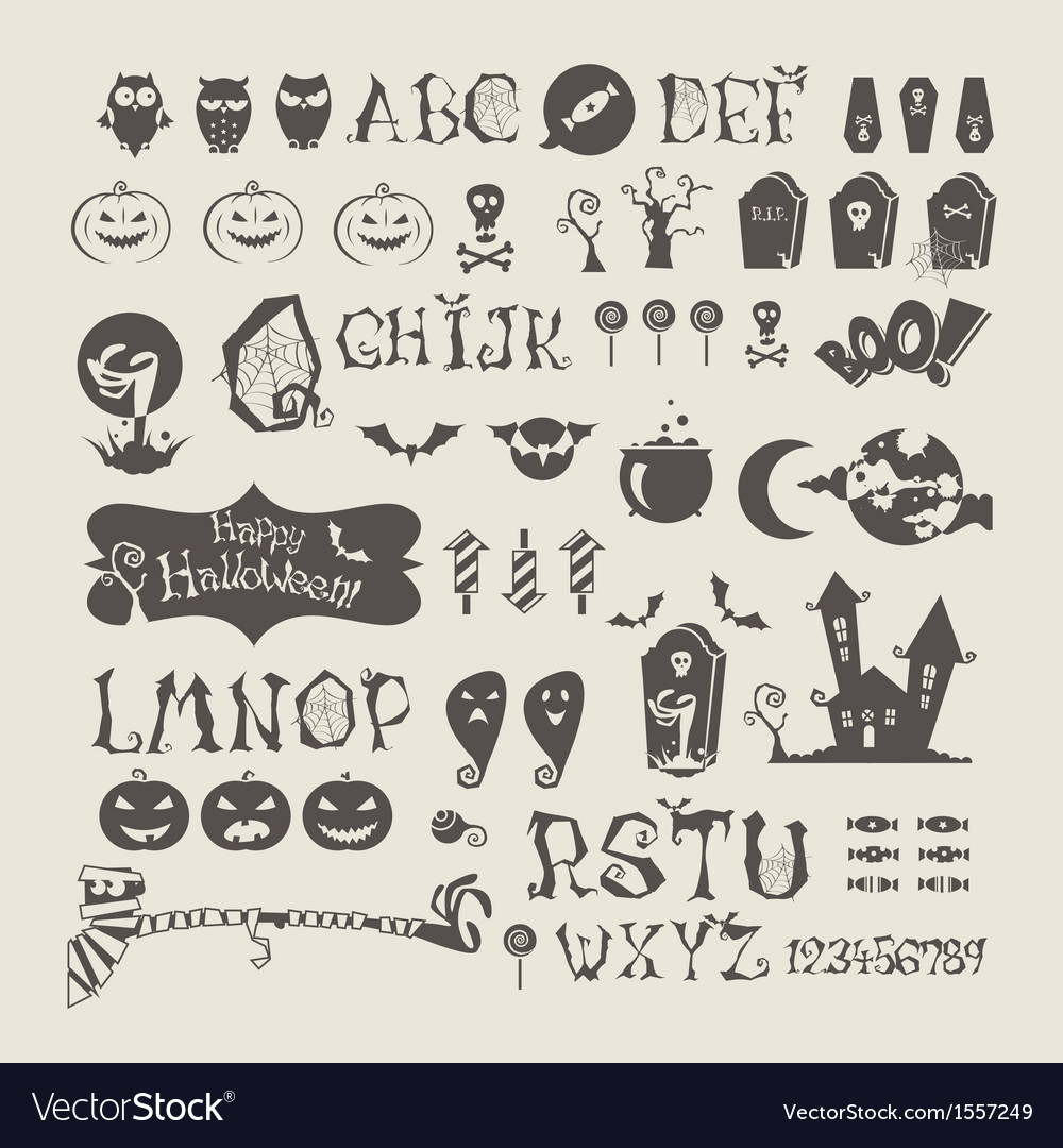 Halloween set vector | Price: 1 Credit (USD $1)
