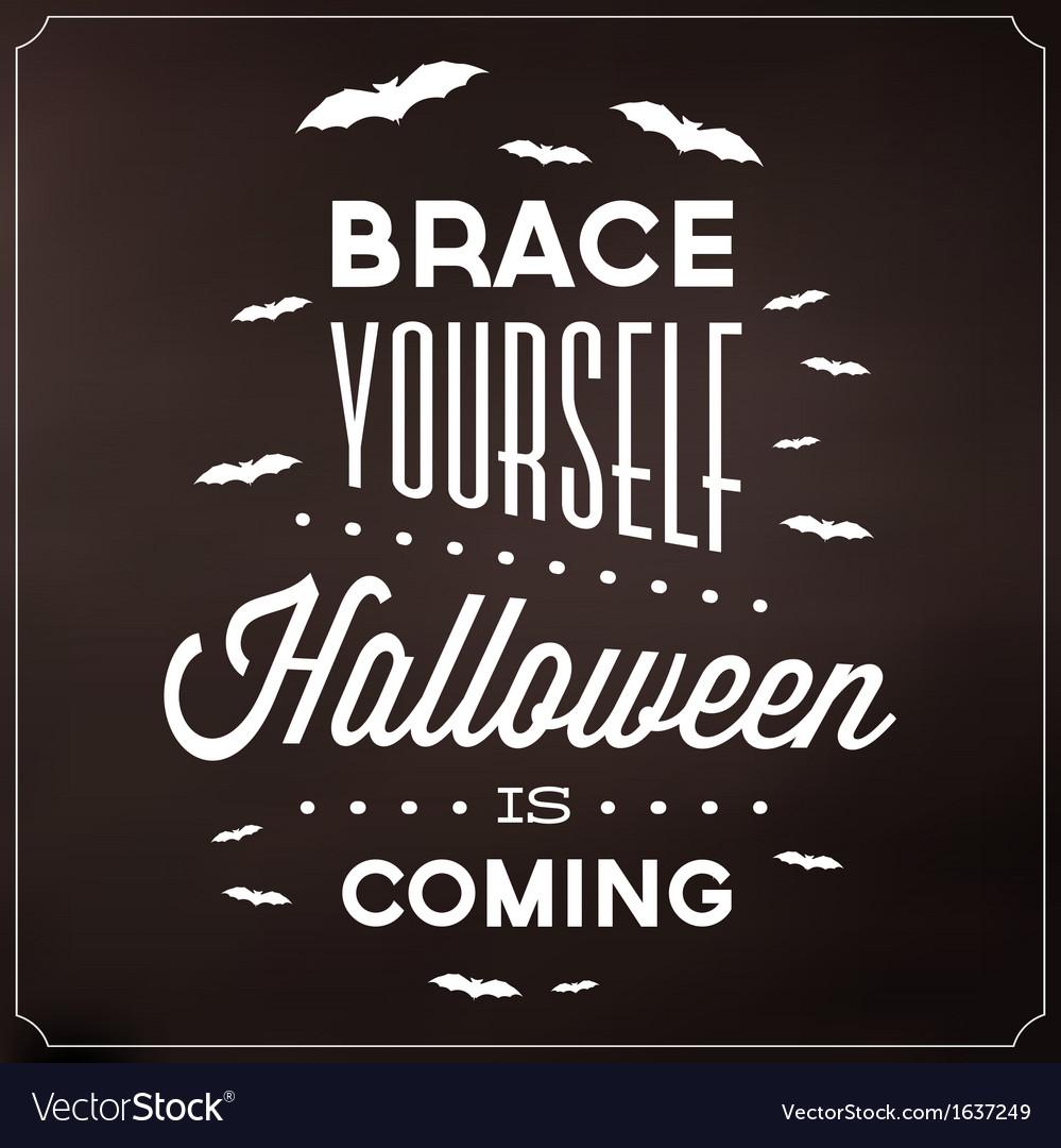 Halloween typographic template vector | Price: 1 Credit (USD $1)