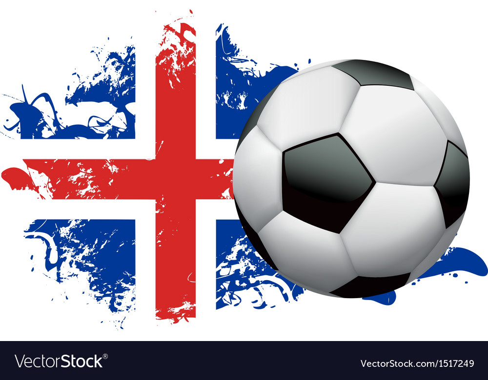 Iceland soccer grunge vector | Price: 1 Credit (USD $1)