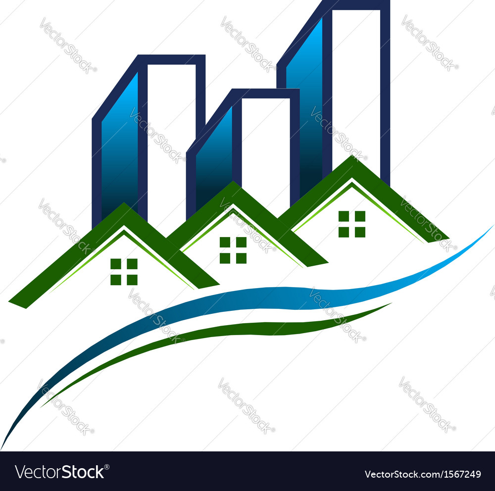 Real estate community logo vector | Price: 1 Credit (USD $1)