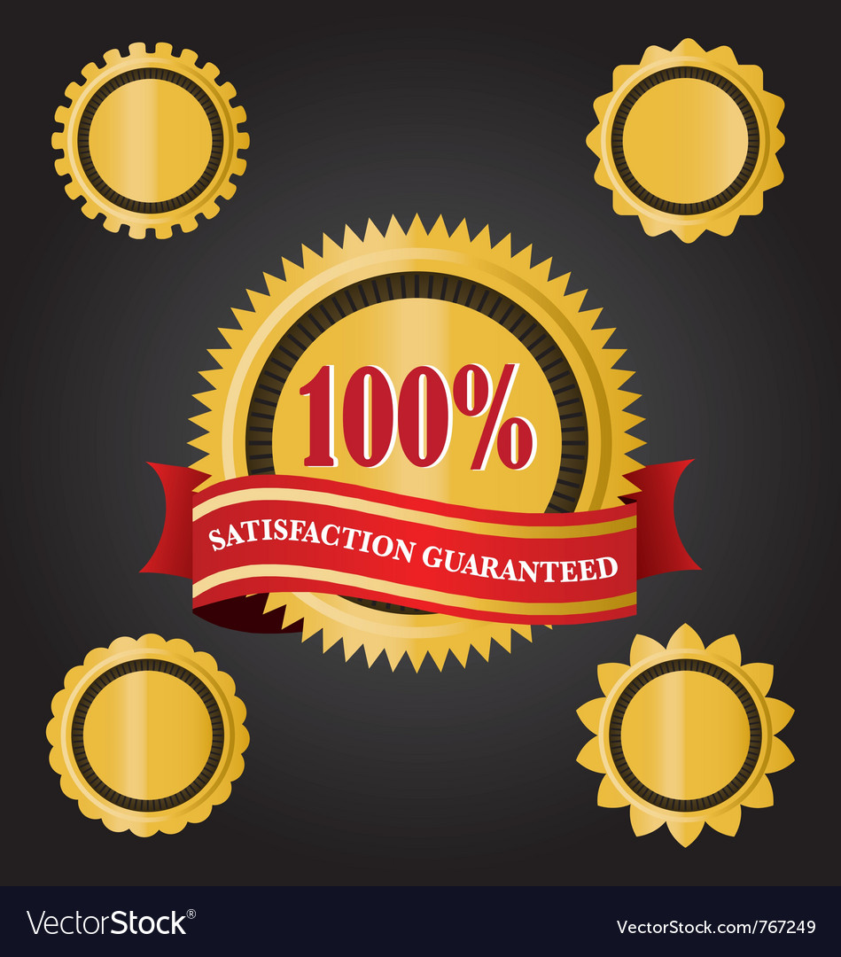 Satisfaction guarantee ribbons vector | Price: 1 Credit (USD $1)
