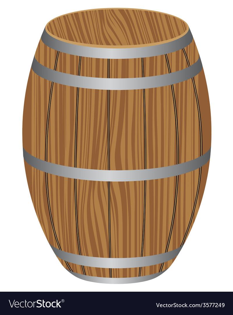 Wooden barrel vector | Price: 1 Credit (USD $1)