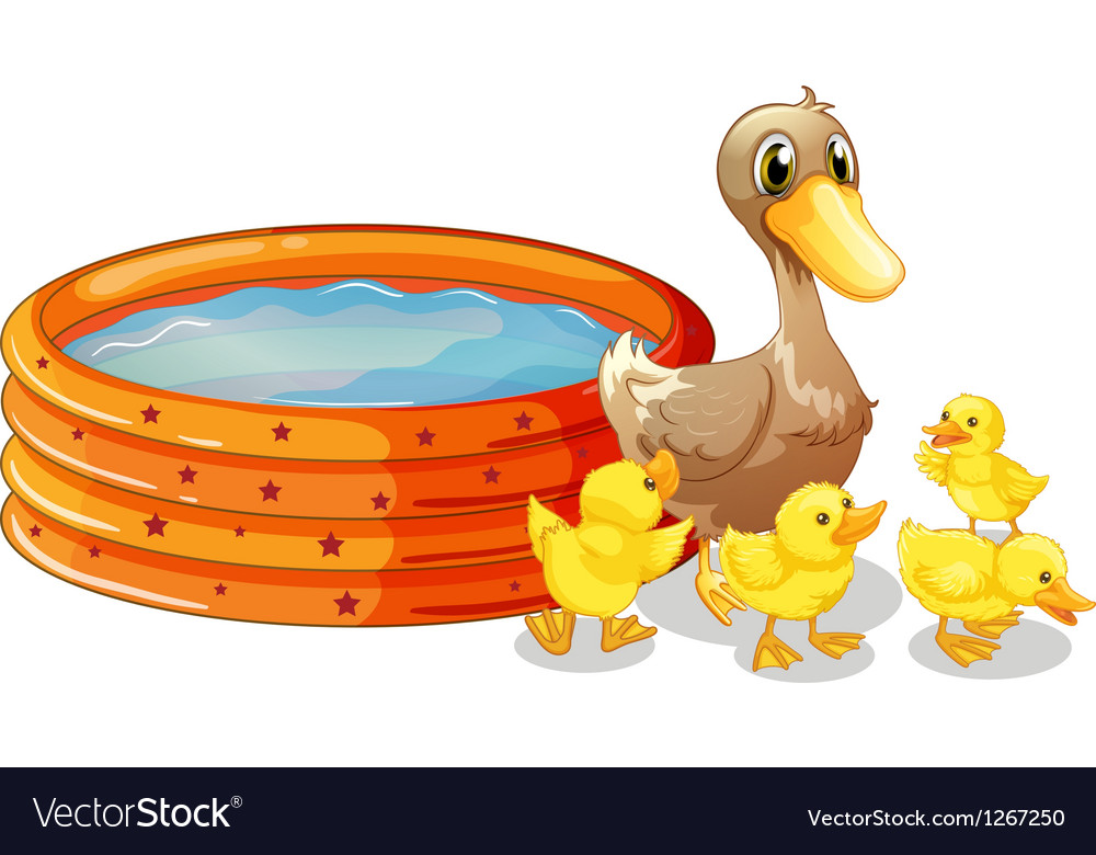 An inflatable pool at the back of the five ducks vector | Price: 1 Credit (USD $1)