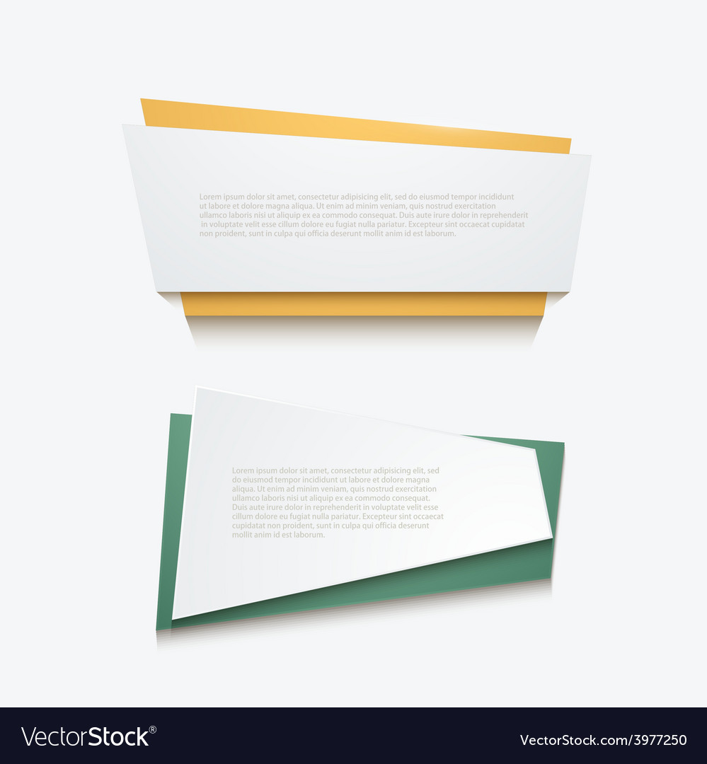 Banners element design vector | Price: 1 Credit (USD $1)