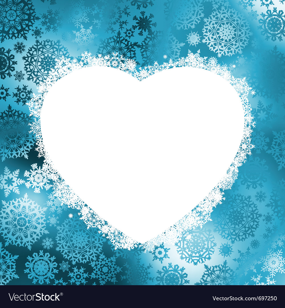 Christmas heart frame vector | Price: 1 Credit (USD $1)