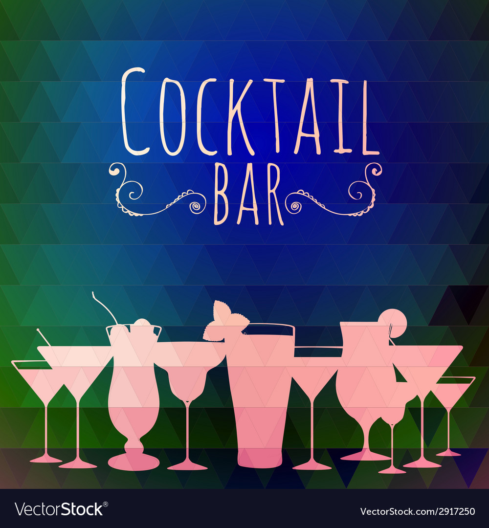 Cocktail triangle background vector | Price: 1 Credit (USD $1)