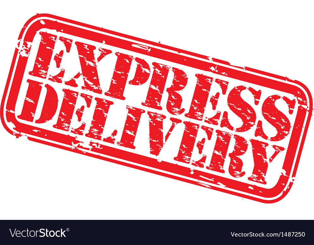 Express delivery stamp vector | Price: 1 Credit (USD $1)
