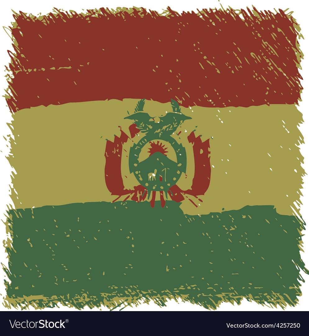Flag of bolivia handmade square shape vector | Price: 1 Credit (USD $1)