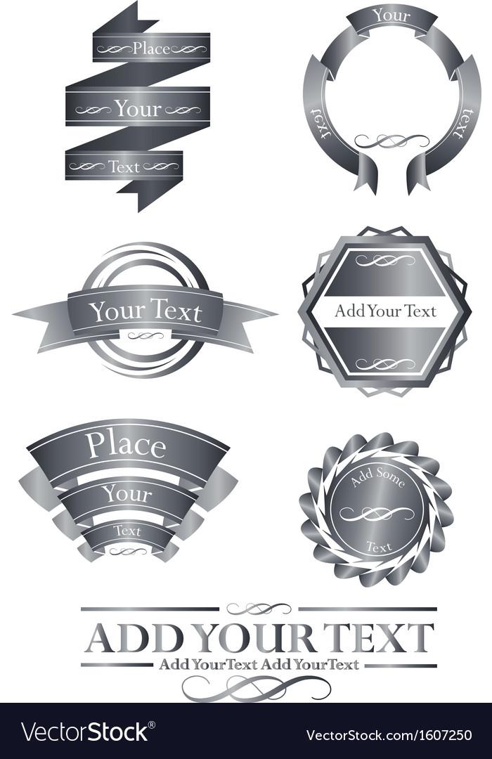 Great chroome emblem logo set vector | Price: 1 Credit (USD $1)