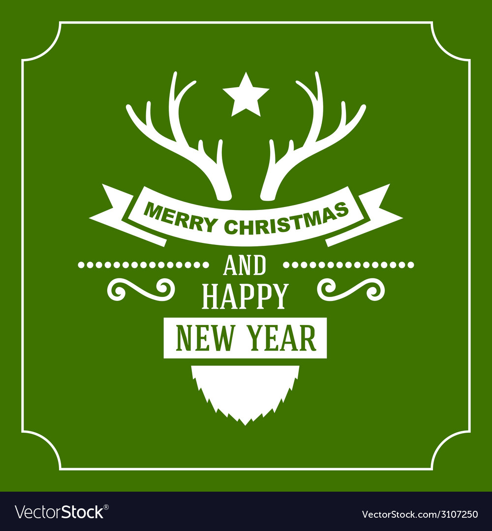 Greeting christmas and new year card vector | Price: 1 Credit (USD $1)
