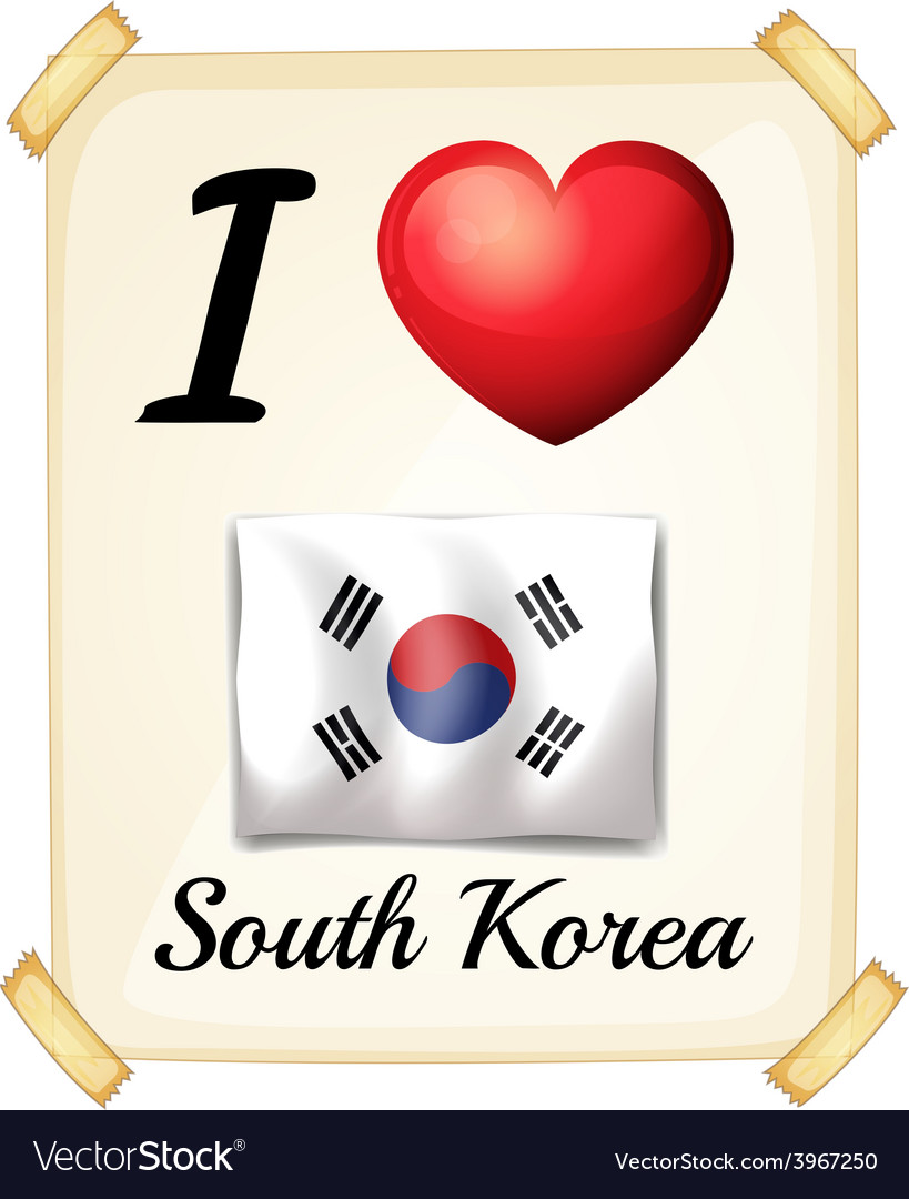 I love south korea vector | Price: 1 Credit (USD $1)