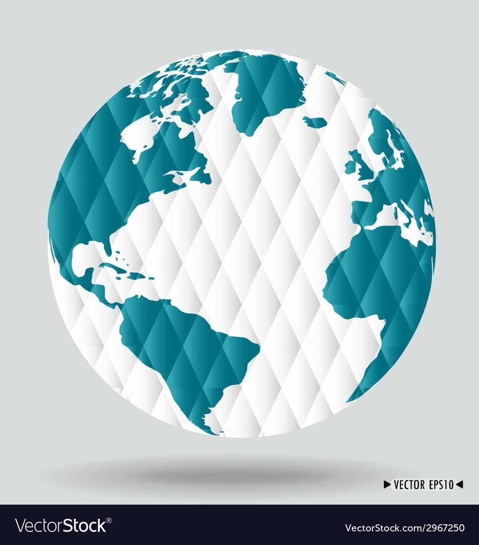 Modern globe vector | Price: 1 Credit (USD $1)
