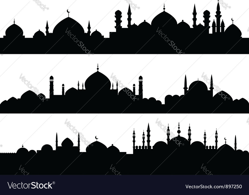 Muslim cityscapes vector | Price: 1 Credit (USD $1)